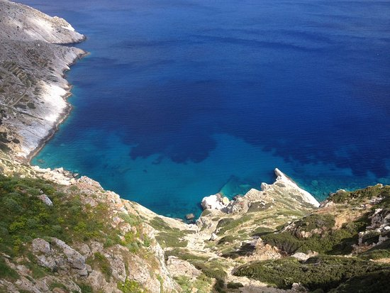 Alimos, Griechenland: The deep blue from a walk at Folegandros