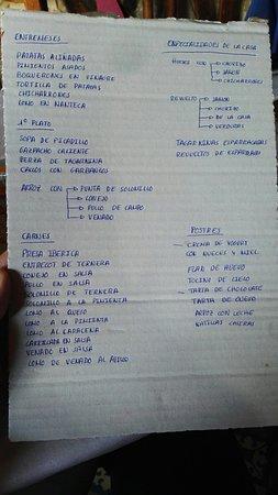 Alcala de los Gazules, Spain: La carta