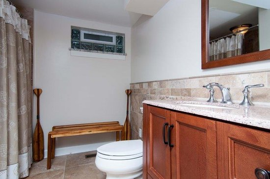 Long Beach, IN: Lower Lever Bath with shower