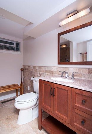 Long Beach, IN: Lower Level Bath with shower