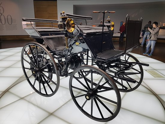 Mercedes Benz Museum The First Real Fuel Ed Car Of 1886 By