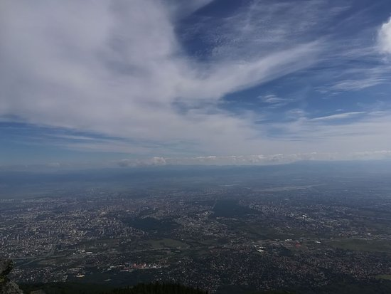 Vitosha Mountain: This is a view of Sofia from  Kamen del