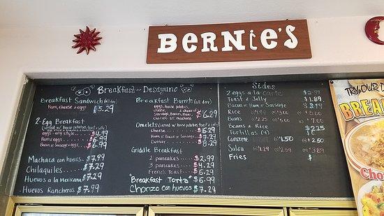 More menu items.