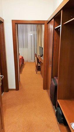 Spa Resort Sanssouci : Eingangsbereich Zimmer (links Bad u. separates WC)