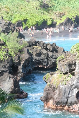 Road to Hana Tours: Black sand beach
