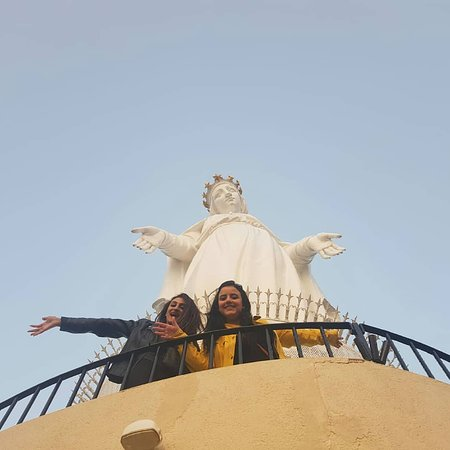Harissa, Libanon: Special trip with amazing Egyptian girls to Jeaita grotto lebanon and harisa cable car and Byblos city