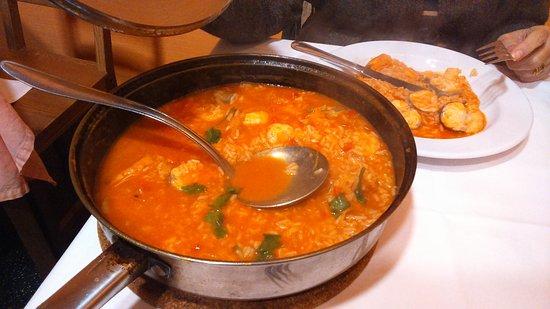Rosa do Porto: El arroz de tamboril con gambas