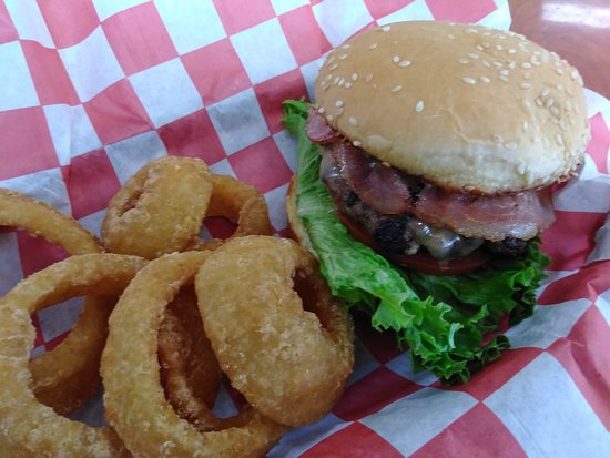 Roundup, MT: Our Bacon, Swiss, Mushroom Burger Special.