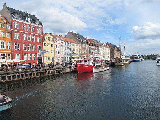 Nyhavn Copenhagen during August 2018. A tourist spot, bustling, but still pleasant and serene.