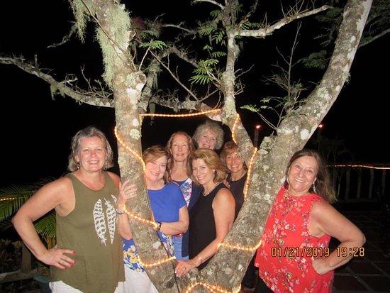 7 ladies eating at adventure dining