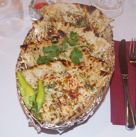 Chilli-Cheese & Garlic Naan at Indian Express. Hahndorf