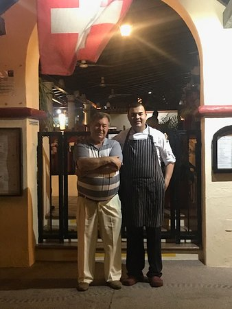 Owner Heinz Reize on the left and Chef Luis Enrique Alvarado