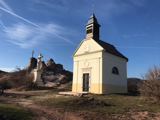 Chapel rebuilt recently with public donations in commemoration of the expulsion of Germans in 1946 from town of Budaörs following the defeat of the Nazi forces