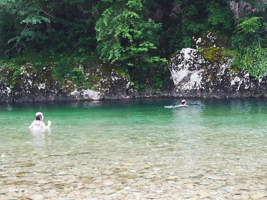 Idrijca river bathing place