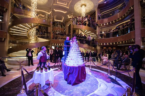Captain's Champagne Waterfall Party on Regal Princess