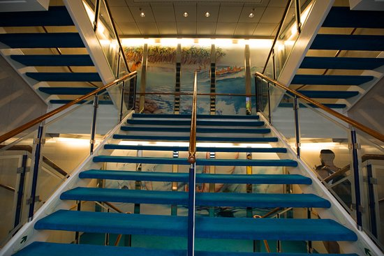 Stairs on Norwegian Sky