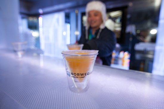 Svedka and Inniskillin Ice Bar on Norwegian Getaway