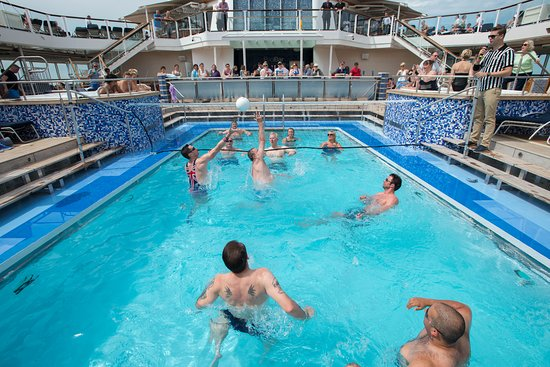 Pool Volleyball on Celebrity Eclipse