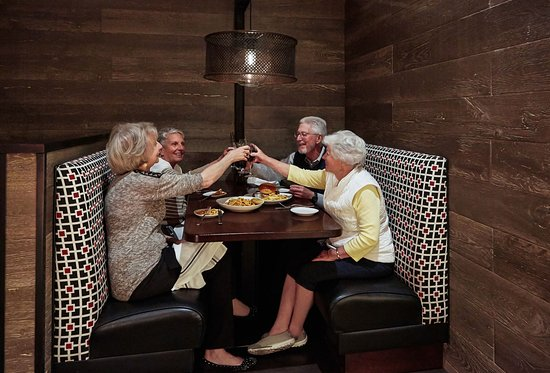 Sun Lakes, AZ: sharing a great meal and beverages, Stone & Barrel is a great place for friends to meet.