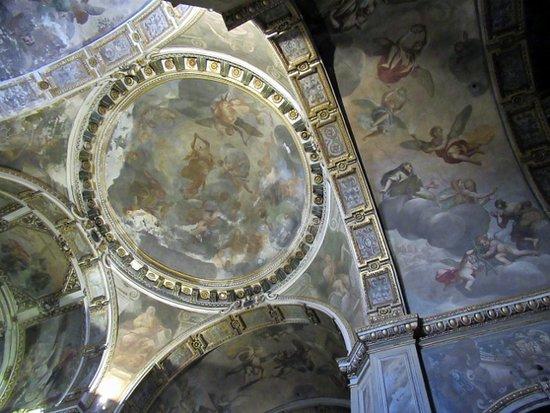 Chiesa di Sant'Alessandro in Zebedia: Volte affrescate