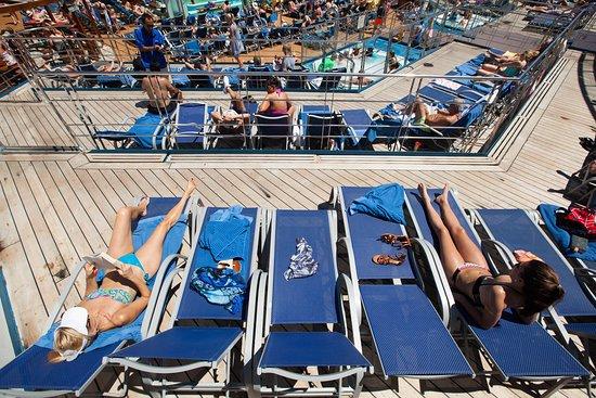 Sun Deck on Carnival Sunshine