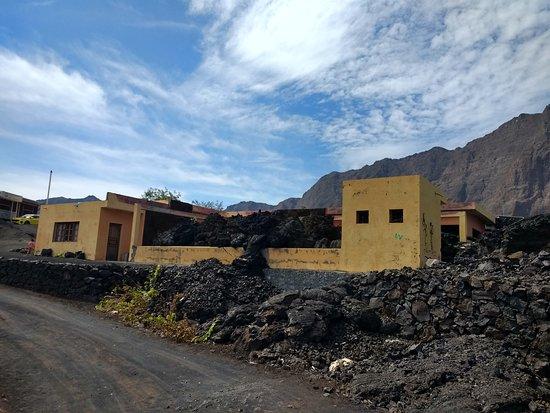 Fogo, Cape Verde: Abandoned restaurant in Portlea