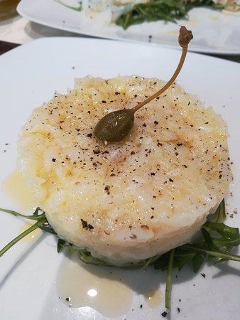 La Dolce Vita a Sirmione : Tartar di salmone e tartar di 👍 baccalà