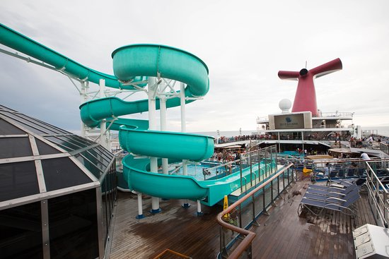 The Twister Water Slide on Carnival Triumph