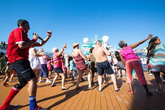 The Sun Decks on Carnival Triumph