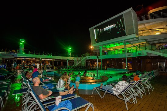 Dive-In Movies at Carnival Seaside Theatre on Carnival Triumph