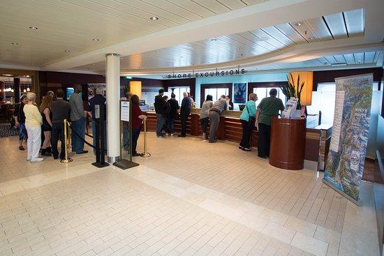 Shore Excursions Desk on Celebrity Solstice