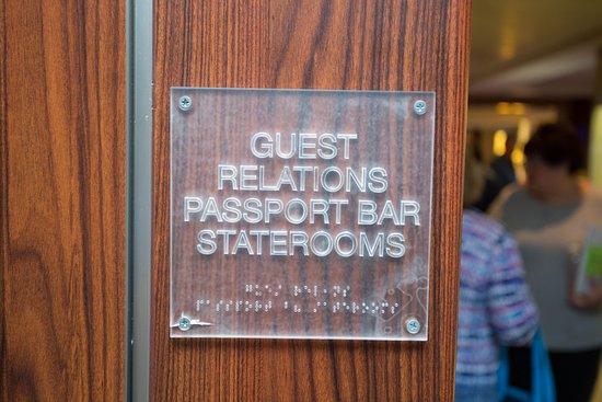 Guest Relations Desk on Celebrity Solstice