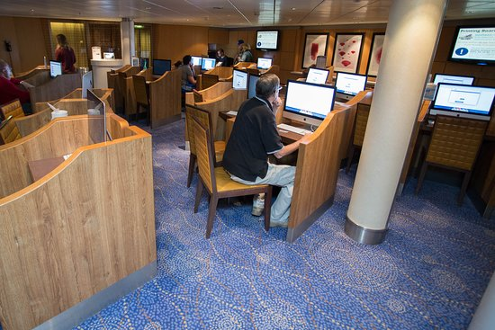 Internet Cafe on Celebrity Solstice