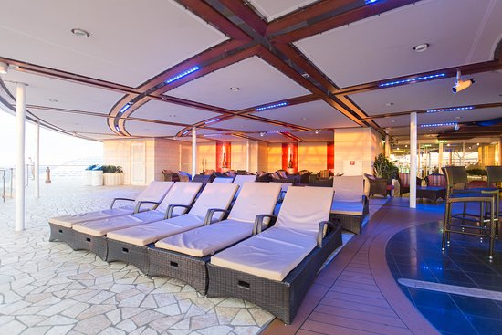 The Solarium on Allure of the Seas