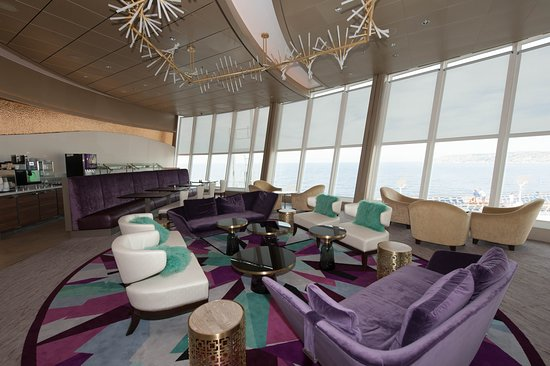 Suite Lounge and Coastal Kitchen on Allure of the Seas