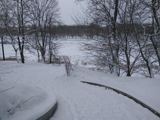 Bogoroditsk, Russia: Виды на реку с площадки перед усадьбой. Январь 2019.
