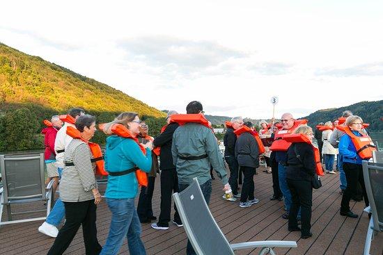 Safety Drill on Viking Gullveig