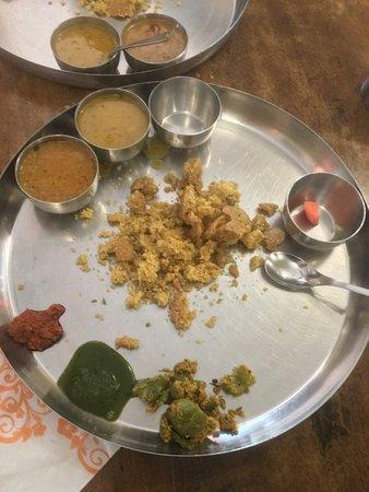 Dal Bati at Krishna Resto in Udaipur
