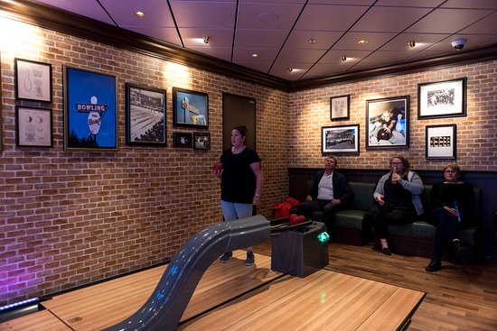 Bowling Alley in The Local Bar & Grill on Norwegian Bliss