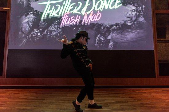 """Thriller Flash Mob"" in The Atrium on Norwegian Bliss"