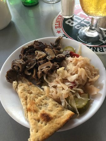 Mushrooms and cabbage
