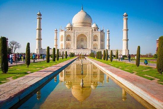 Agra Dagstur: Taj Mahal ved Taj Express...