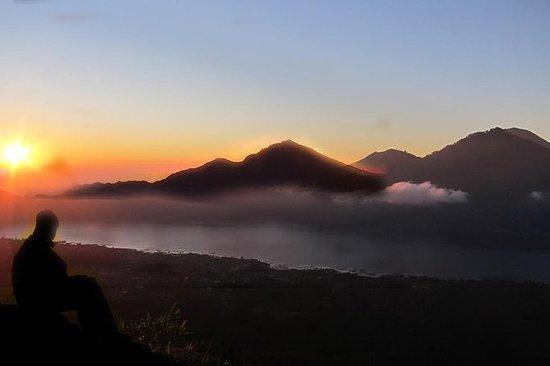 Vulkanen på Mount Batur ...