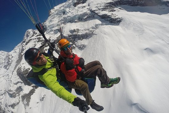 Paragliding Over the Swiss Alps from...