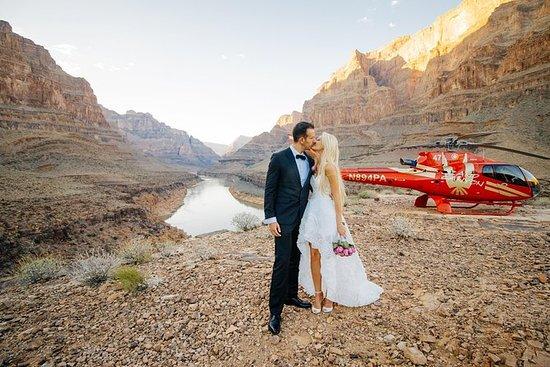 直升机婚礼仪式:大峡谷