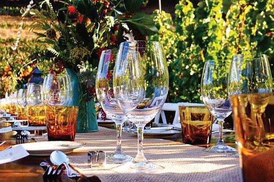Romantisches Weingut Abendessen...