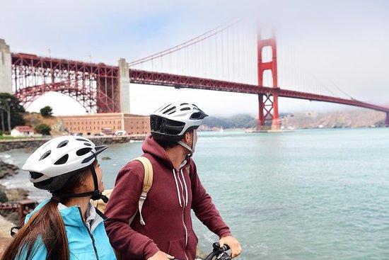 Bicicleta por el puente Golden Gate.