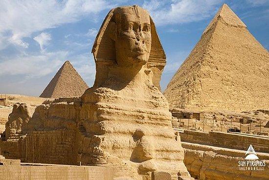 参观金字塔,埃及博物馆,尼罗河午餐游船和声光表演
