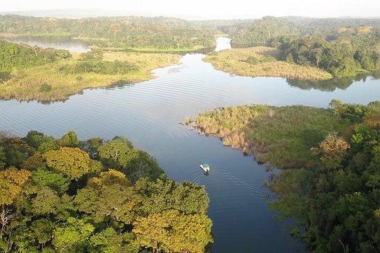 巴拿马运河加顿湖上的雨林摄影探险