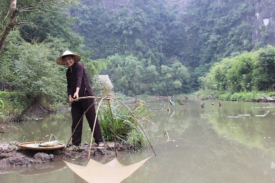 Tam Coc båttur, fiske opplevelse...
